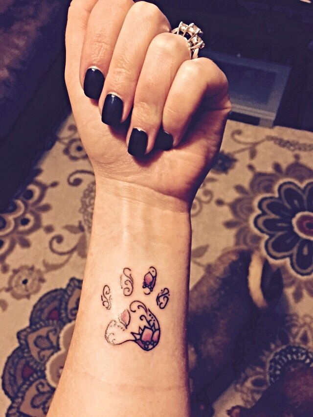 Paw print tattoo for my furbabies