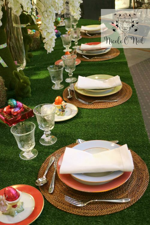 Pastel Coloured Plates - Easter Table Setting Inspiration - How to Decorate An Easter Table