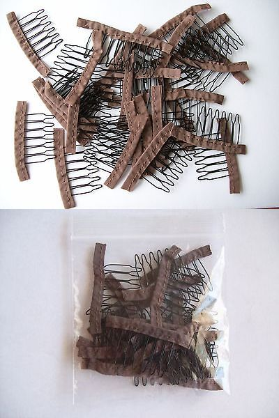 Wig and Extension Supplies: Lot Of 300 Brown Spring Wire Wig 6 Teeth Clips Combs Lace Glueless Fabric -> BUY IT NOW ONLY: $75.99 on eBay!