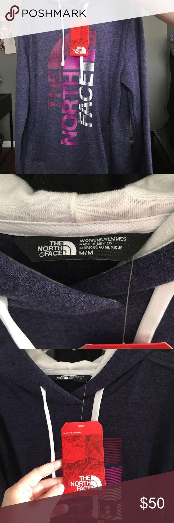 NWT, never worn, Women's north face hoodie NWT Women's purple north face hoodie, size medium The North Face Tops Sweatshirts & Hoodies