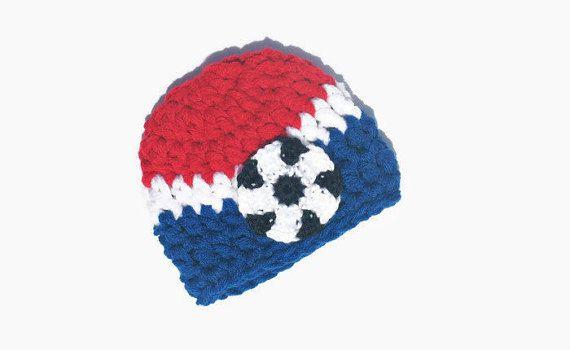 Newborn Soccer Hat Baby Boy Soccer Hat USA by DeesCozyCreations