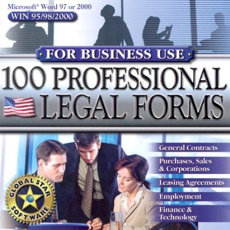 This legal form collection contains 100 professionally prepared American legal forms for everyday business use. The forms are in electronic format for convenient use and customization directly in Microsoft Word 97 or 2000. Enjoy our simple installation menu that allows easy selection of your chosen documents. You will save time and money on expensive legal documents. new from $14.95 Your #1 Source for Software and Software Downloads  Ultimatesoftwaredownload.com