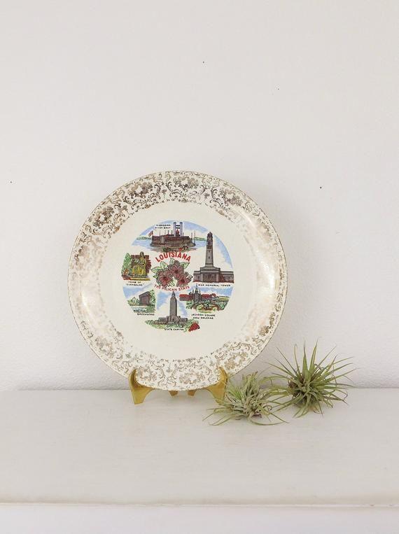 Vintage Louisiana Plate Collectible Souvenir Plate Decorative State Plate Louisiana Souvenir Display Plate La S Souvenir Display Plate Display Vintage Souvenir