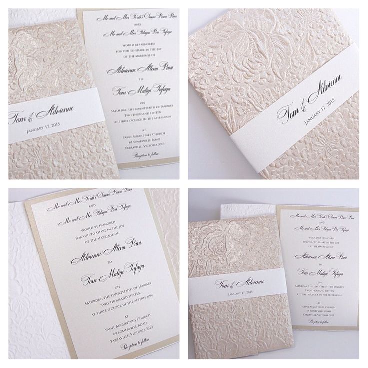 Embossed wedding invitations by Lavender Paperie - lavenderpaperie@yahoo.com