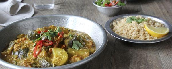 Dol op curry? Het is niet moeilijk klaar te maken en serveer de curry eens op een verrassende manier met Bulgur of Amarant.