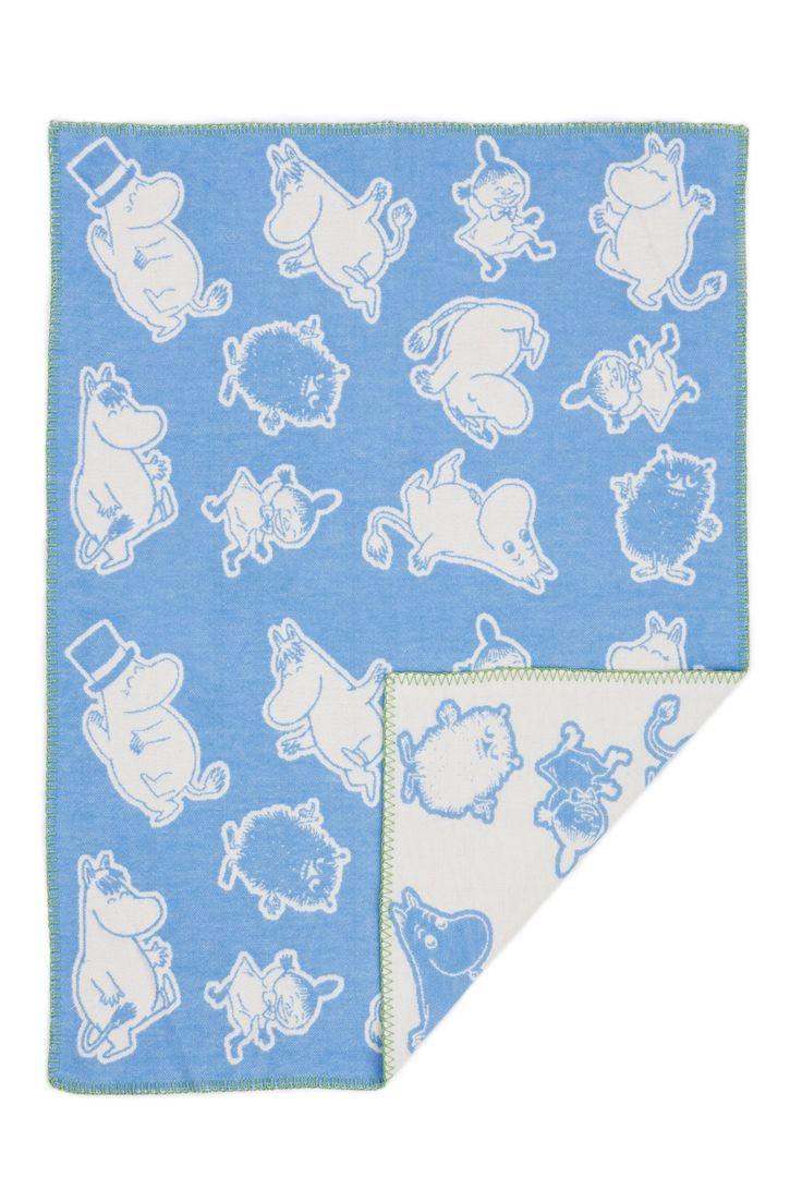 Moumines - Couverture bébé en coton -Moumine- bleu, 70x90 cm (Klippan) [2513-10]: Amazon.fr: Bébés & Puériculture