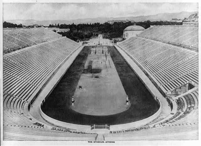 Kallimarmaron Stadion Athens Greece 1914 #hellas #stadium http://www.vintag.es/2015/01/25-vintage-photographs-of-athens-in.html