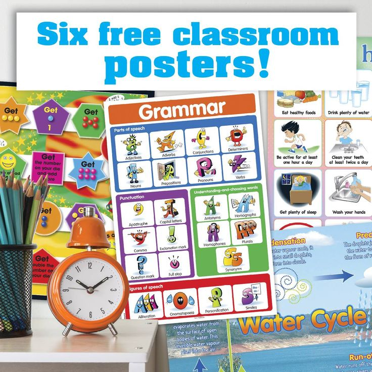 A new year and a new class calls for a new classroom setup! To help you create an engaging, motivating and inspiring classroom for your students, the first Teaching Ideas freebie of 2017 is a set of fabulous posters! These six colourful and informative posters cover Science, English, History, Geography, Mathematics and Health and will brighten your classroom walls instantly.