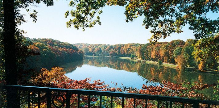 View of Lake Glacier from Fellows Riverside Garden, Mill Creek MetroParks, Youngstown, Ohio