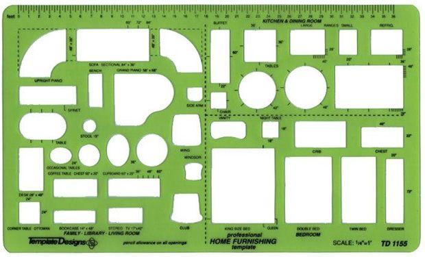 1 4 Inch Scale Furniture Templates Free, Interior Design Furniture Templates 1 4 Scale