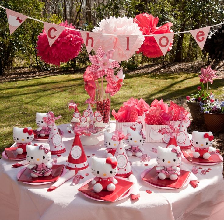 hello kitty aprtyTables Sets, Birthday Parties, Hello Kitty Birthday, Hellokitty, Parties Ideas, Parties Tables, Parties Theme, Birthday Ideas, Hello Kitty Parties