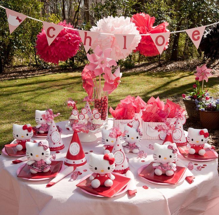 hello kitty aprty: Party'S, Birthday Parties, Hello Kitty Birthday, Hello Putty, Kitty Party, Parties Ideas, Party Ideas, Birthday Ideas, Hello Kitty Parties