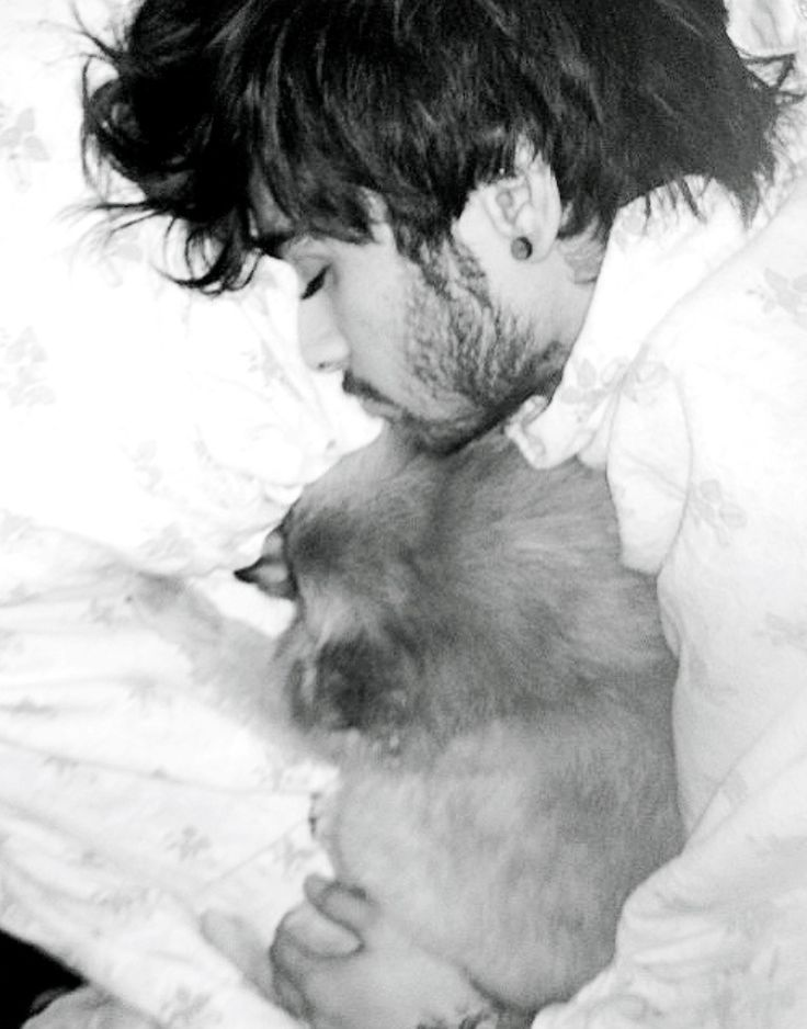 Zayn wasn't at the wedding but here's a pretty cute picture of him with Hatchi
