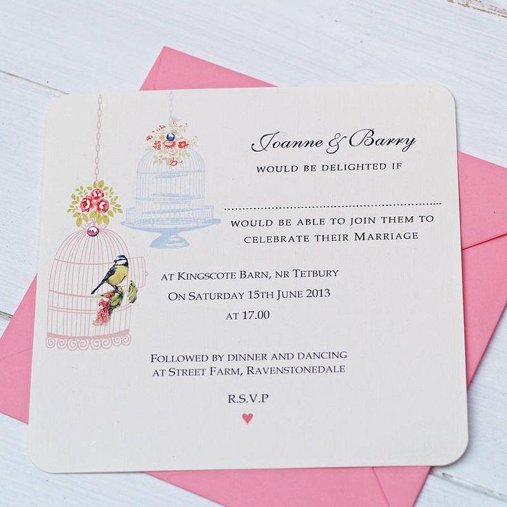 Vintage Birdcages Wedding Invitation