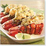 Queues de homard grillées beurre de gingembre et lime