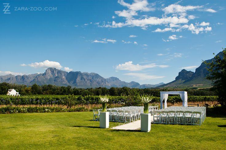 Wedding ceremony at Vrede en Lust