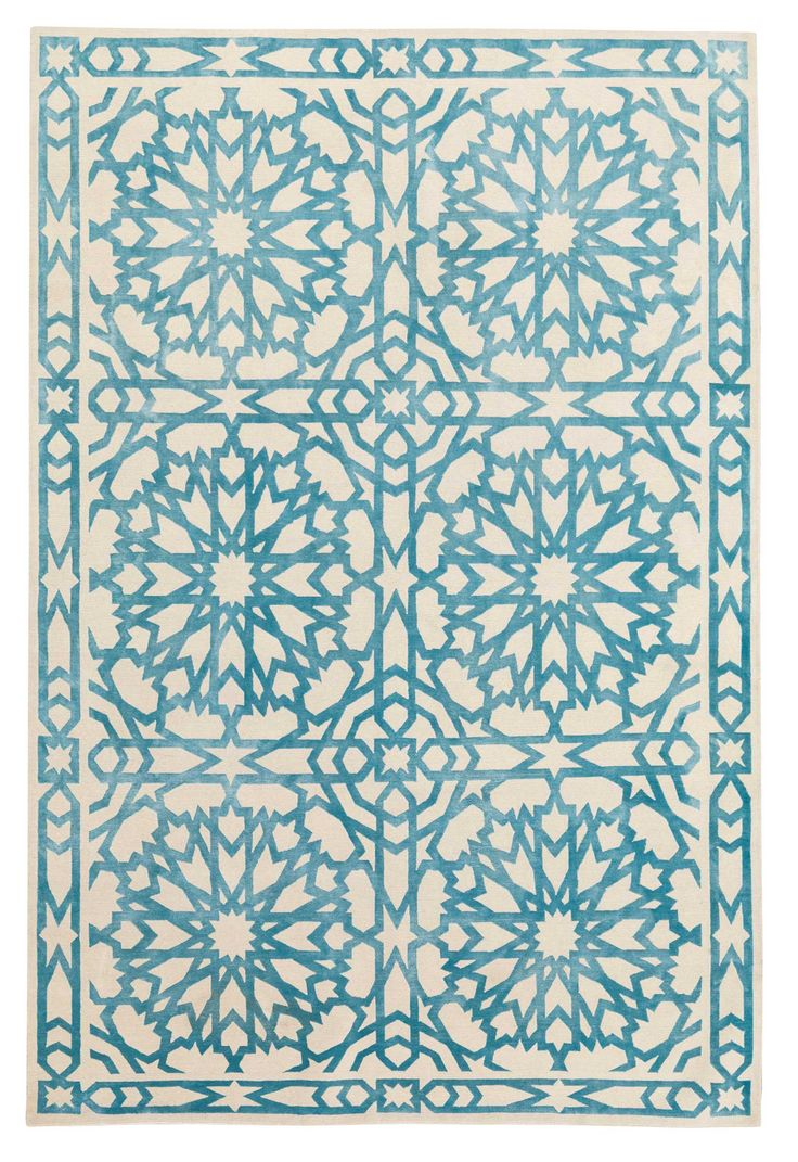 This might be your 2013 purchase: the Mamounia Sky Rug by Mr Bullard