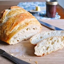 Artisan Bread - crunchy on the outside, soft & chewy on the inside. So easy and so perfect!