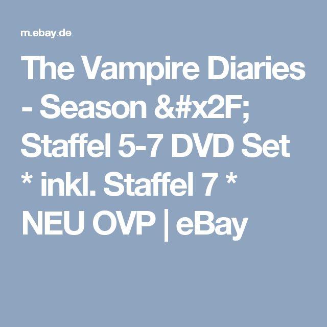 The Vampire Diaries - Season / Staffel 5-7 DVD Set * inkl. Staffel 7 * NEU OVP  | eBay