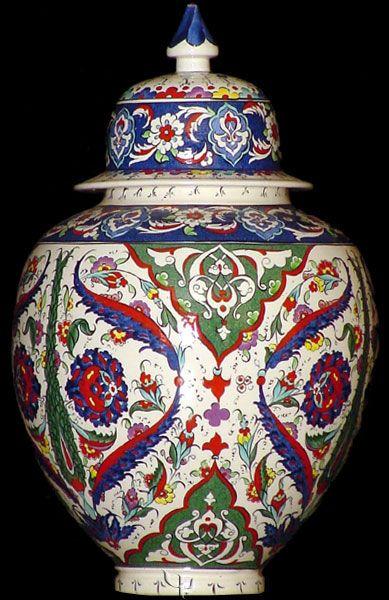 Iznik Design Ceramic Jar