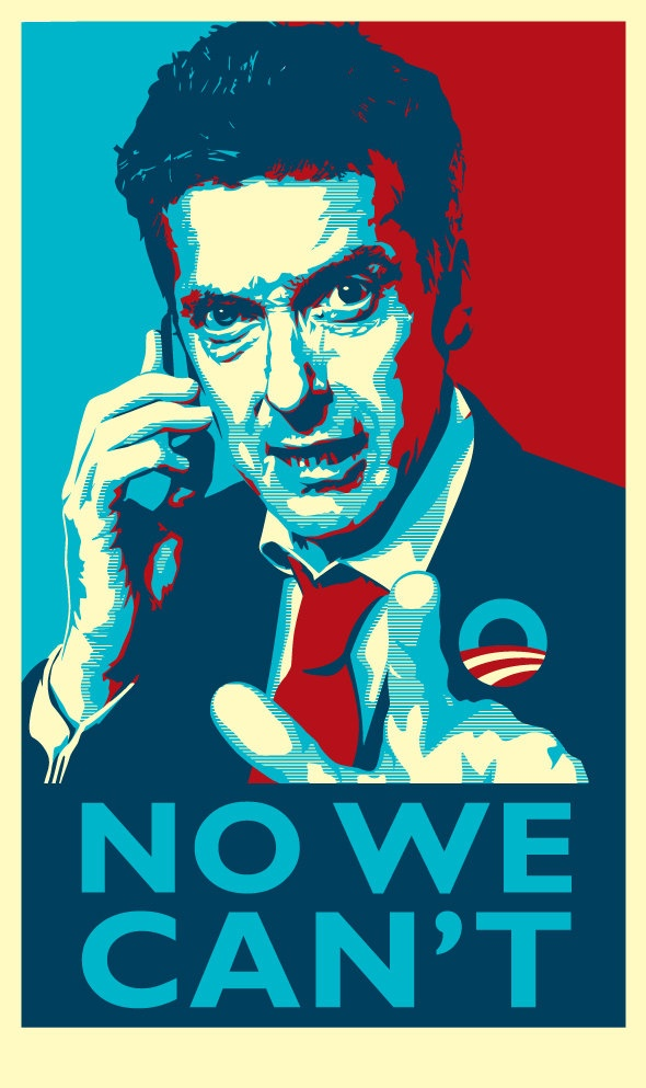 The Thick of It Malcolm Tucker No We Cant Digital Print.  via Etsy.