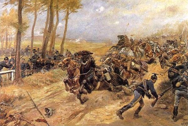 De Slag der Zilveren Helmen, Halen, België.   Kort na het uitbreken van de Eerste Wereldoorlog werd op woensdag 12 augustus 1914 hevig gevochten bij Halen (toen nog Haelen genoemd) in België. De Duitse aanvallers werden tegengehouden door het Belgische leger en moesten zich aan het einde van de dag zelfs verslagen terugtrekken.  Na afloop van deze veldslag was het slagveld bezaaid met honderden dode paarden en metalen helmen van de Duitse cavaleristen die als zilver blonken in het zonlicht.