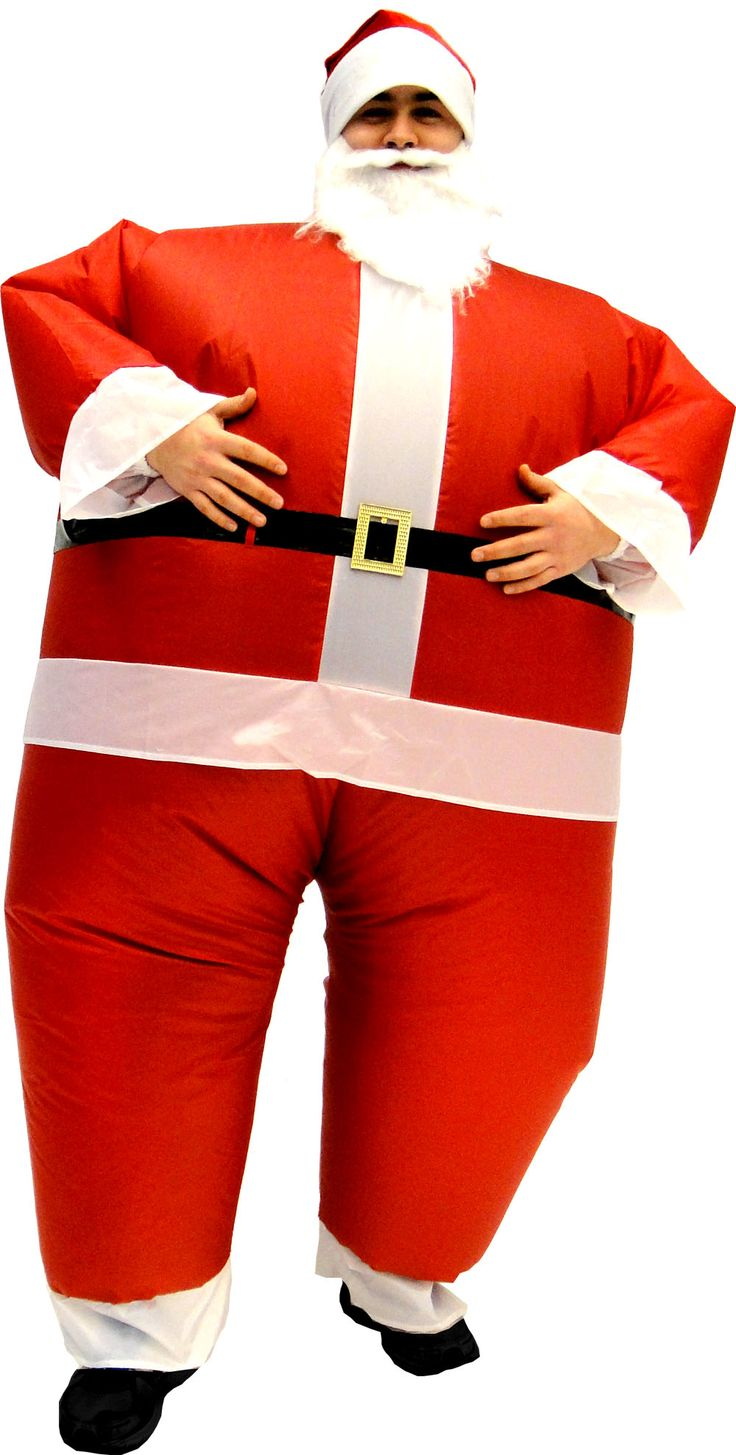 Santa Claus Inflatable Chub Suit Costume With Beard and Hat $54.95 #tvstoreonlinewishlist
