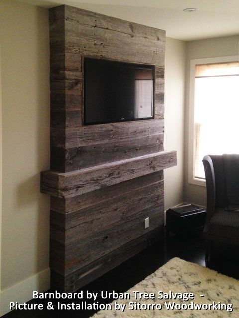 #Grey Barnboard feature wall supplied by URBAN TREE ...