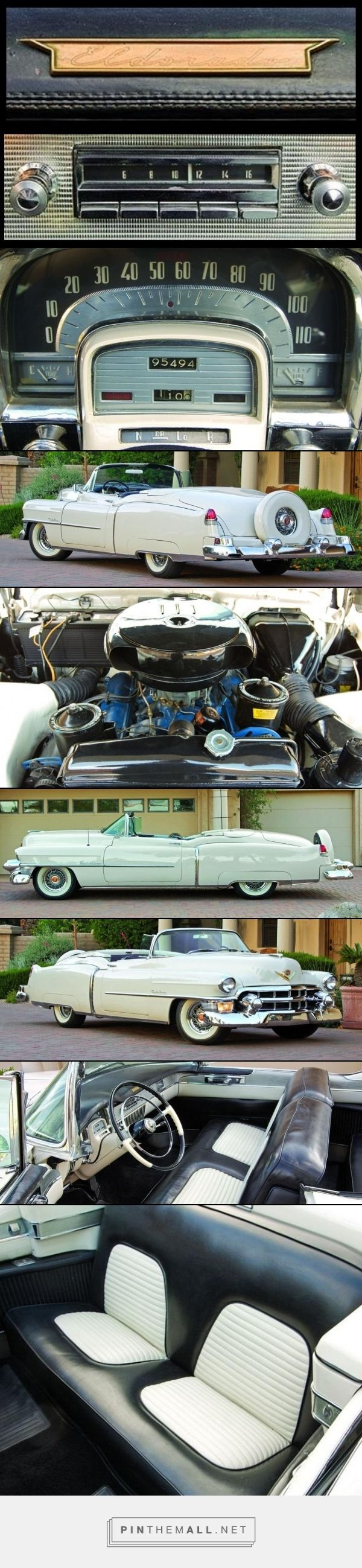 1953 CADILLAC ELDORADO Body Style: Two-door, four-seat convertible Engine Type…