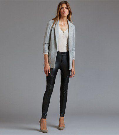 Pantalon de moto skinny en faux cuir Kate
