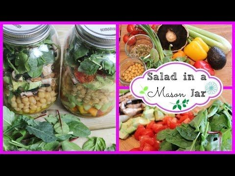 ▶ ❀ How To: Healthy Salad recipe for weight-loss | Salad In a Mason Jar ❀ - YouTube