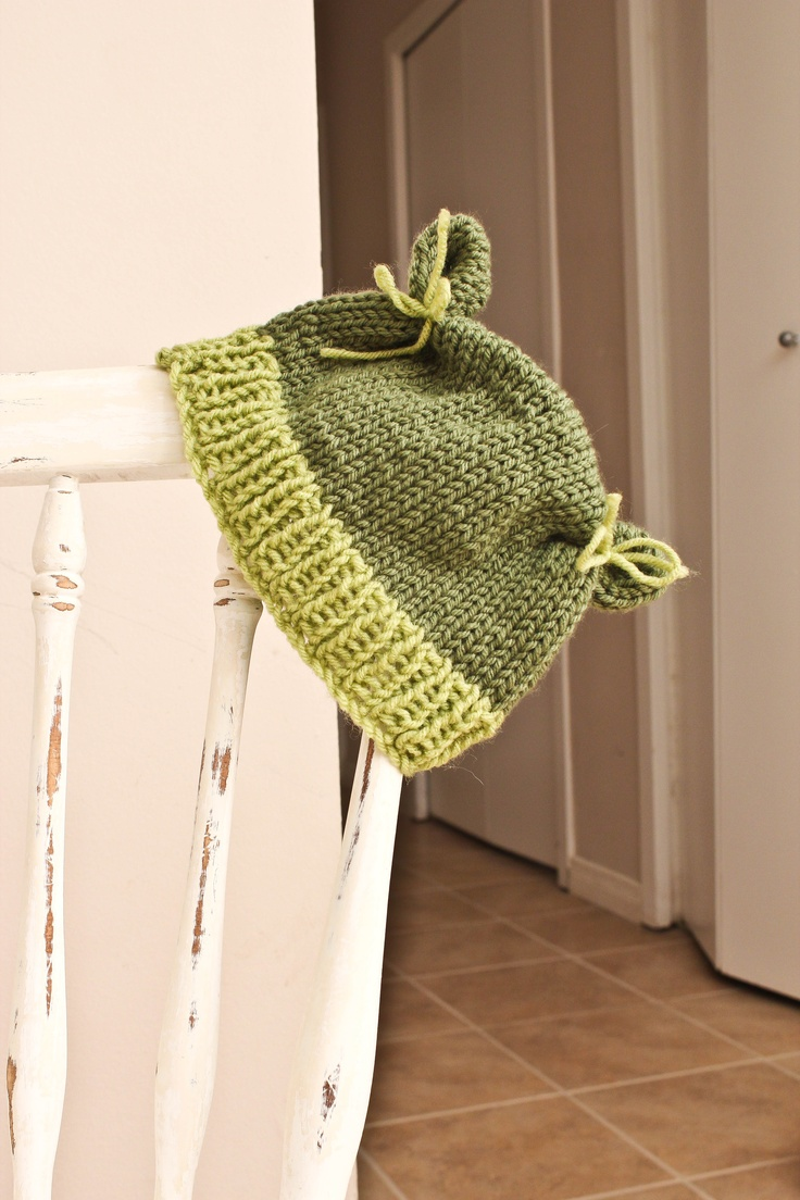Two Toned Flour Sack Hat. Custom order for size and colour. $15.00 Visit AngelMouse Knitwear on Facebook