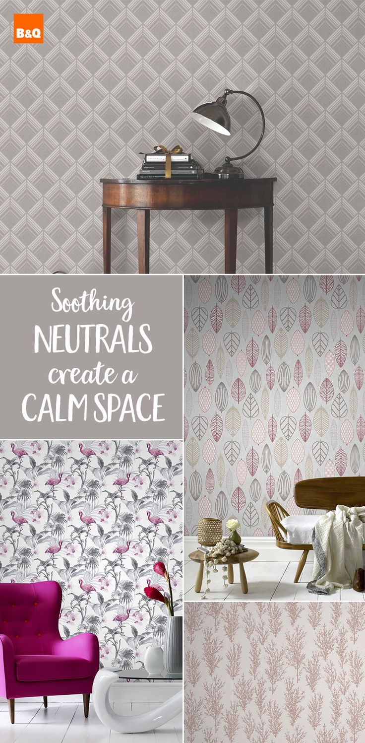 Create a soothing interior with these lovely neutral wallpapers. Perfect  for redecorating your bedroom,