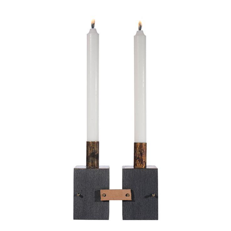 Ljusstake i trä - dubbel - Oddbirds #Ljusstake #candlestick #advent #oddbirds träljusstake
