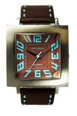 Other Watches 166739: New Tokyo Bay Watch Tram Stitch Chocolate Brown And Blue Women Men Grad Teen Gift BUY IT NOW ONLY: $95.0