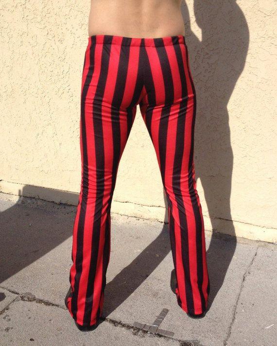 Gestreepte Meggings / / piraat broek / / Buccaneer Festival kostuum Leggings