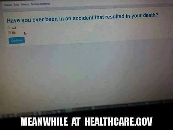 You had one job Healthcare dot Gov http://ift.tt/P60prR #Fail #ObamaCare