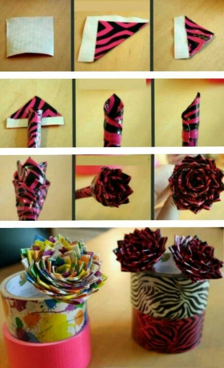 How to Make a Duct Tape Rose. Very easy, very simple, and it makes a very cute gift!