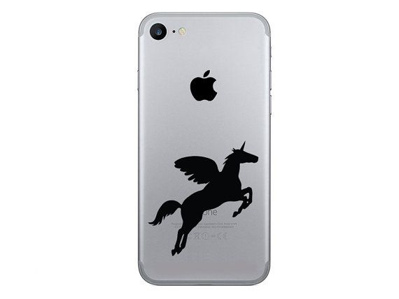 Unicorn iphone 7 decals pegasus iphone 6 plus stickers galaxy s6 decal pony fabric stickers samsung galaxy s7 decal gold decal
