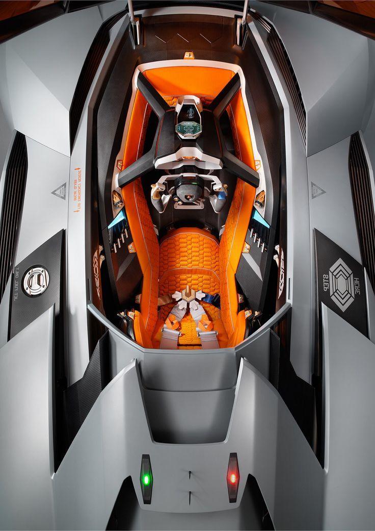 Lamborghini Egoista Interior Futuristic Cars