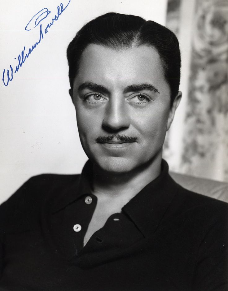 William Powell with autograph. | famous folks | Pinterest