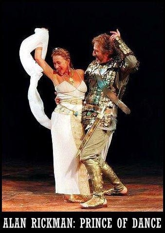 1998 - Alan Rickman with Helen Mirren in 'Antony and Cleopatra' @ the Olivier