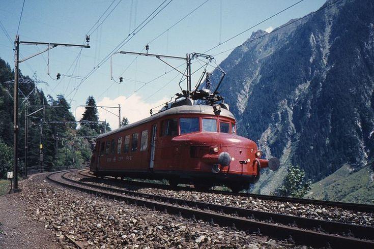 RAe 2/4 Swiss Rail Roter Pfeil by Wassen, Uri