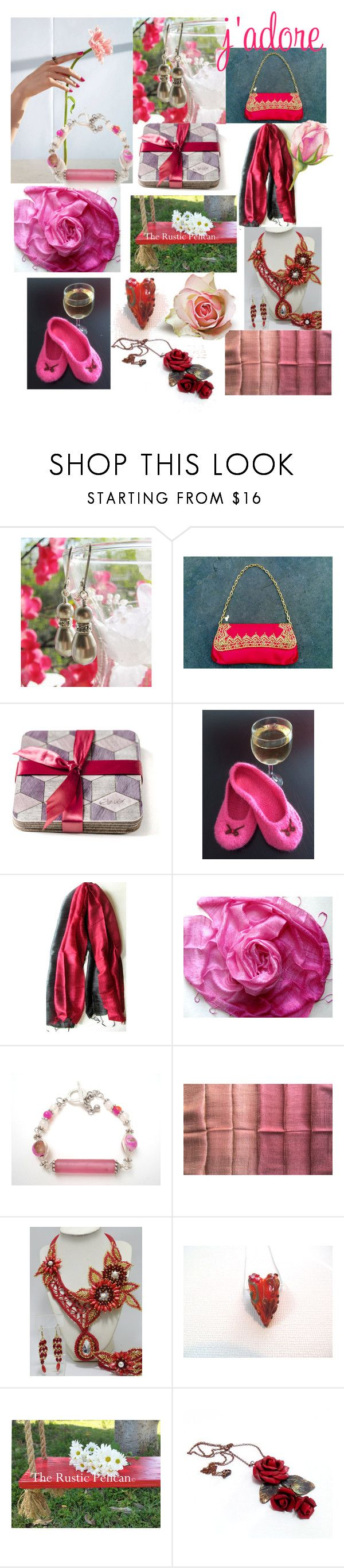 """""""J'Adore"""" by anna-recycle ❤ liked on Polyvore featuring Hostess, Scialle, modern, rustic and vintage"""