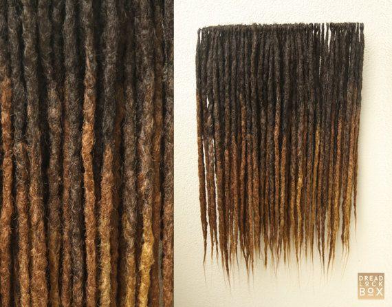 Brun dégradé | Dreadlocks synthétiques | Tailles/longueurs ci-dessous | 10-100 pièces | SE DE | Chaude brune | Brun foncé | Marron clair | Tons chauds