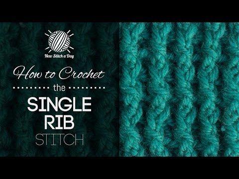 How to Crochet the Single Rib Stitch