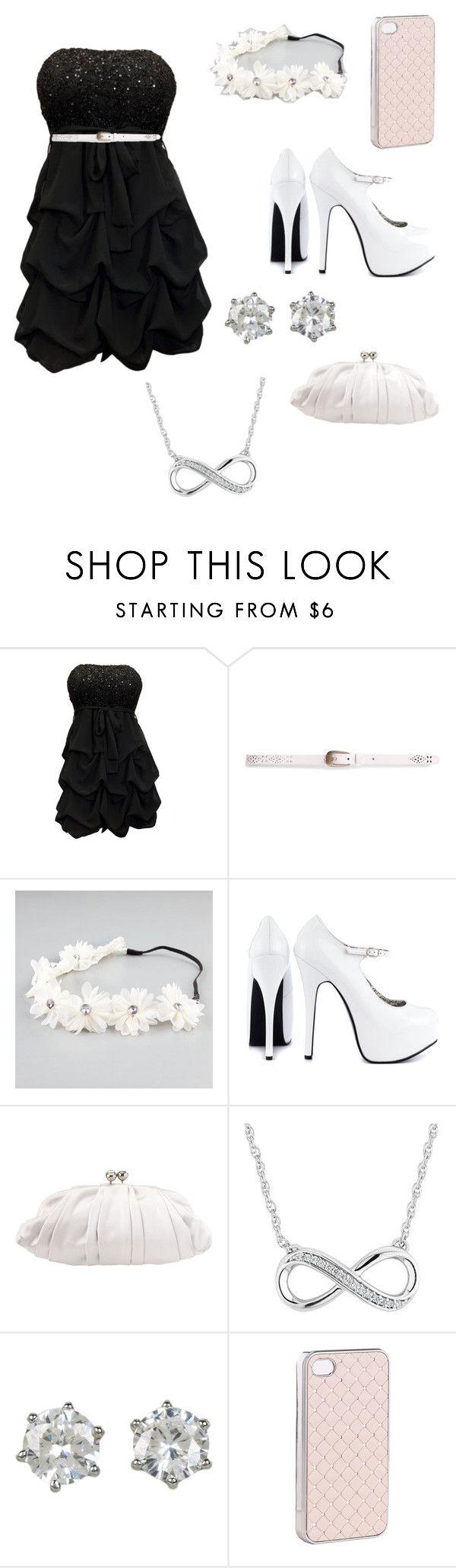"""""""end of the school's dance"""" by beautjful ❤ liked on Polyvore featuring Pull&Bear, Full Tilt, Viva Bordello, Nine West, Reeds Jewelers, Juicy Couture and Accessorize"""