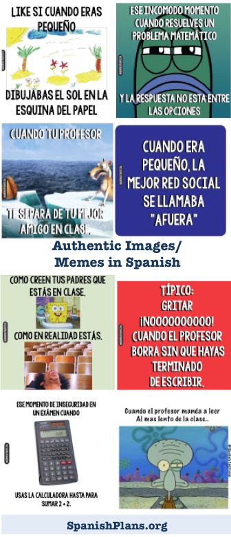 Engaged your students with these authentic memes in Spanish.