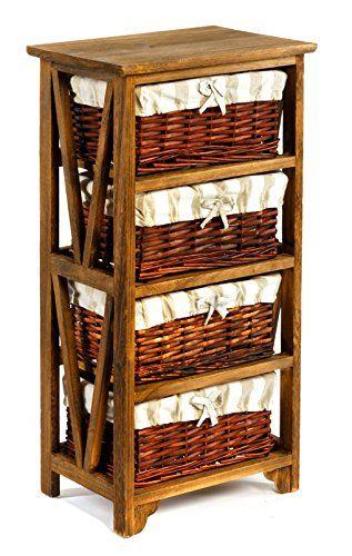 Geko Leven Wooden Cabinet, Multi Colour