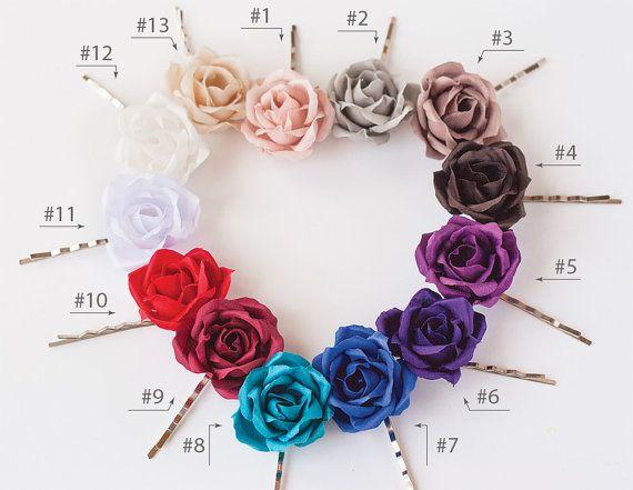 Fiori beige capelli Accessori per capelli Forcine fiore di ArsiArt